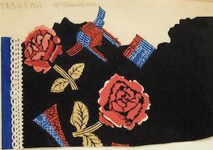 Artwork by Raoul Dufy, Composition aux roses et monuments de Paris