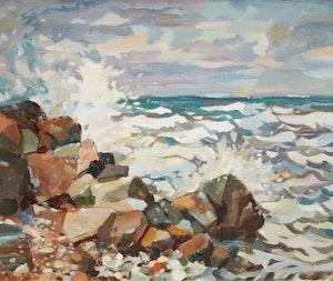 Artwork by James Archibald Houston, Storm - Georgian Bay