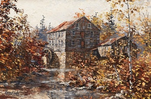 Artwork by James Keirstead, Maple Creek Mill