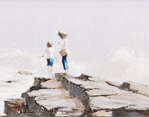 Artwork by André Bertounesque, Mon frère et moi