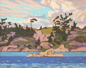 Artwork by Illingworth Holey Kerr, Flag Tree, Georgian Bay