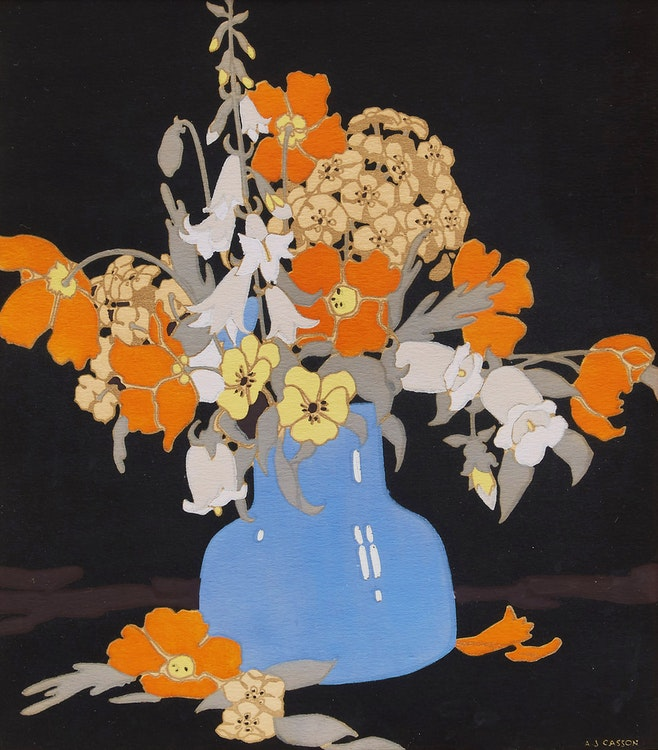 Artwork by Alfred Joseph Casson,  Early Wild Roses; Flowers; Nasturiums