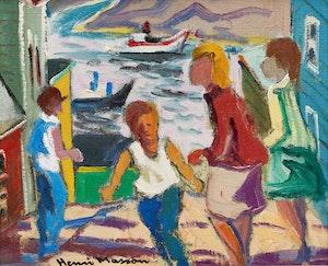 Artwork by Henri Leopold Masson, Passing Scene, St. John's