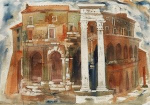 Artwork by Doris Jean McCarthy, Greco-Roman Scene