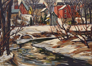 Artwork by Thomas Keith Roberts, Thawing Stream
