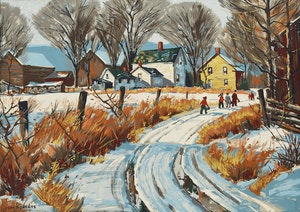 Artwork by Thomas Keith Roberts, Winter Scene
