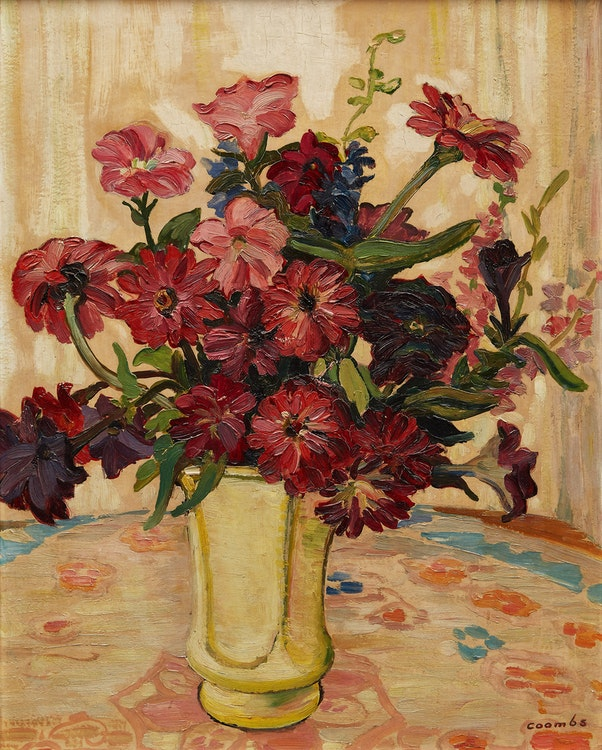 Artwork by Edith Grace Coombs,  From Country Garden