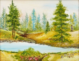 Artwork by Ann Harbuz, Encampment Scene