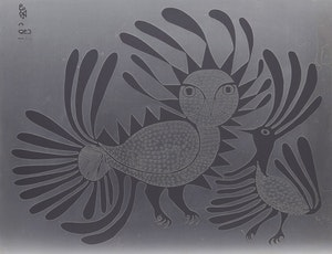 Artwork by Kenojuak Ashevak, Talking Birds