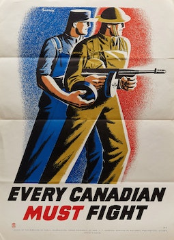 Artwork by Philip Henry Howard Surrey, Every Canadian Must Fight!