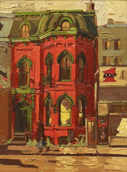 Artwork by Arto Yuzbasiyan, Victorian Houses, Dundas St. E. at Church St.