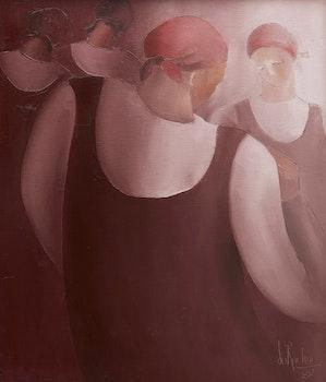 Artwork by Renée duRocher, Les besogneuses