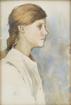 Artwork by Elizabeth Adela Stanhope Forbes, Head of a Girl