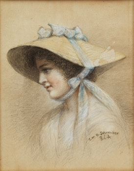 Artwork by Charlotte Mount Brock Schreiber, Portrait of a Woman