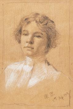 Artwork by William Brymner, Tête de jeune fille