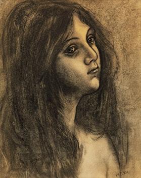 Artwork by Alfred Pellan, Portrait of a Girl