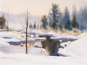 Artwork by Jack Reid, Winter Evening