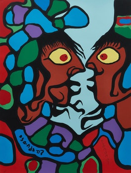 Artwork by Norval Morrisseau, The Art of Norval Morrisseau: Collection of 5 Prints in Original Portfolio