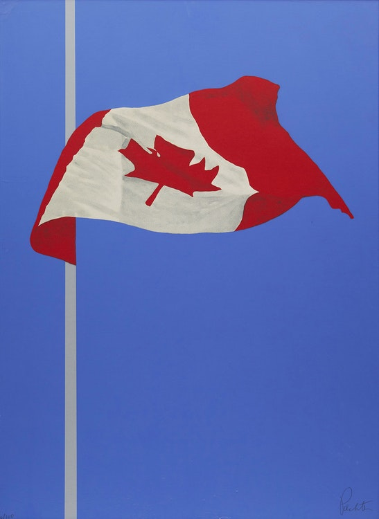 Artwork by Charles Pachter,  The Printed Flag