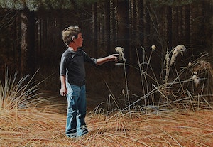 Artwork by Kenneth Danby, At the Edge of the Pines