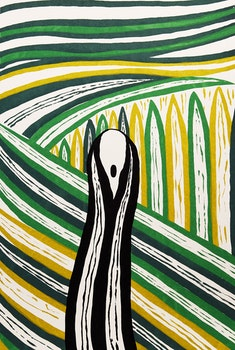 Artwork by Boris Bucan, The Scream (After Edvard Munch)