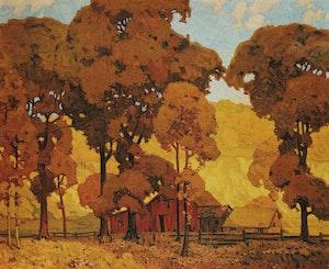 Artwork by Alfred Joseph Casson, Autumn Afternoon; Birch Island; Haliburton