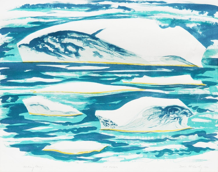 Artwork by Doris Jean McCarthy,  Ice Floes