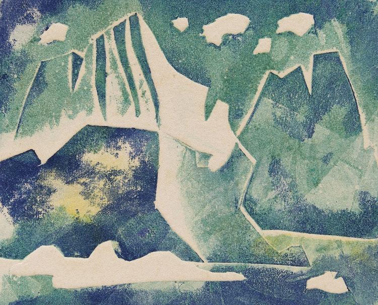 Artwork by Doris Jean McCarthy,  Iceberg #4; Fool's Paradise; Holy Family Scene
