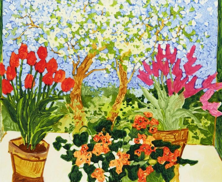 Artwork by Claude A. Simard,  Fleurs de mai