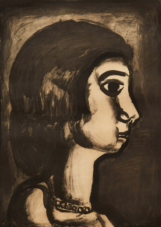 Artwork by Georges Rouault,  Woman in Side Profile