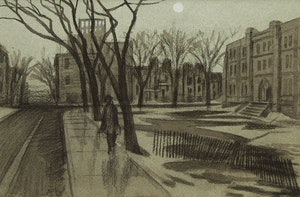 Artwork by Philip Henry Howard Surrey, Evening Street Scene