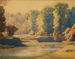 Artwork by Frederick Henry Brigden, The Don River