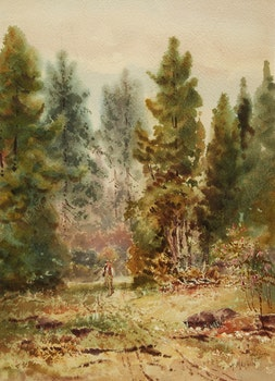 Artwork by Thomas Mower Martin, A Stroll Through the Woods