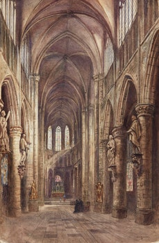 Artwork by Emily Mary Bibbens Warren, St. Gudula Cathedral, Brussels