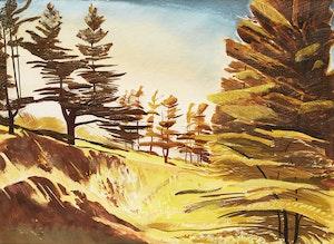 Artwork by Charles Fraser Comfort, Autumn Landscape