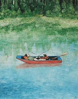 Artwork by William Kurelek, Fishing