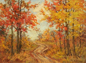 Artwork by Berthe Des Clayes, Autumn in the Woods