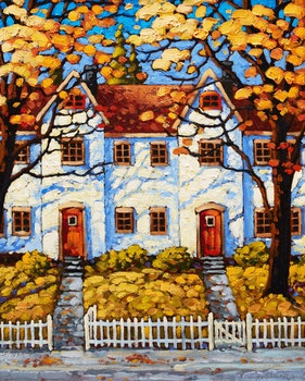 Artwork by Rod Charlesworth, Row House Shadows, Halifax