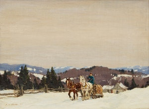 Artwork by Frederick Simpson Coburn, A Grey Day in the Laurentians