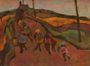 Artwork by William Arthur Winter, Country Road