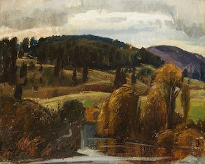 Artwork by Lawrence Arthur Colley Panton, October Evening in the Gatineau Hills