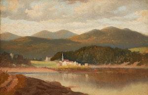 Artwork by William Raphael, Waterfront Landscape