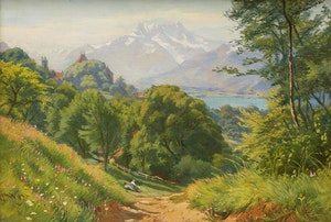 Artwork by Charles Jones Way, Summer Day, Switzerland