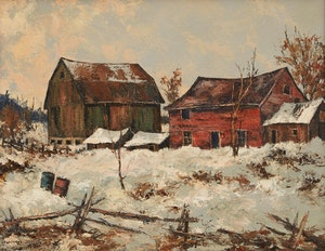 Artwork by Wilf Frank Griffiths , Old Farm on Weston Road