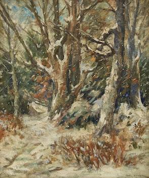 Artwork by Carl Henry von Ahrens, The First Snow