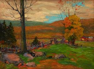 Artwork by Paul Barnard Earle, Autumn Landscape