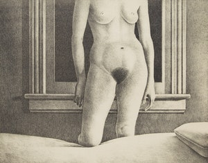 Artwork by Christopher Pratt, Fisher's Maid