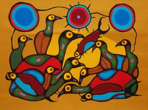 Artwork by Norval Morrisseau, The Gathering