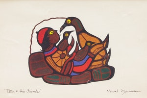 Artwork by Norval Morrisseau, Peter & His Friends