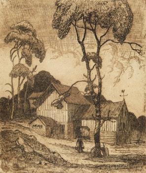 Artwork by Stanley Francis Turner, Farm Scene